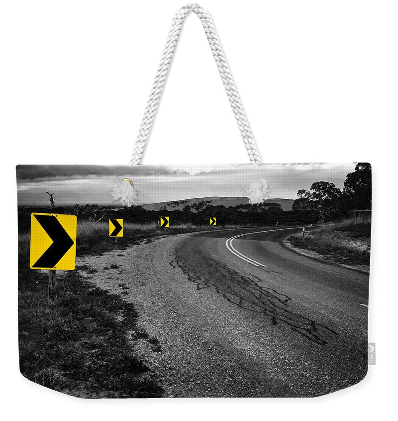 Road Weekender Tote Bag featuring the photograph Road To Nowhere by Kelly Jade King