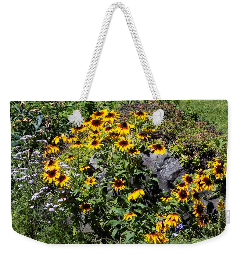 Flowers Weekender Tote Bag featuring the photograph Roadside Scene by William Tasker