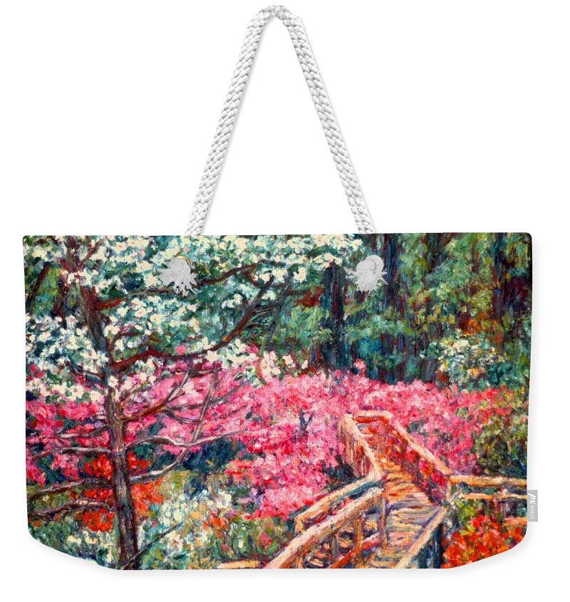 Garden Weekender Tote Bag featuring the painting Roanoke Beauty by Kendall Kessler