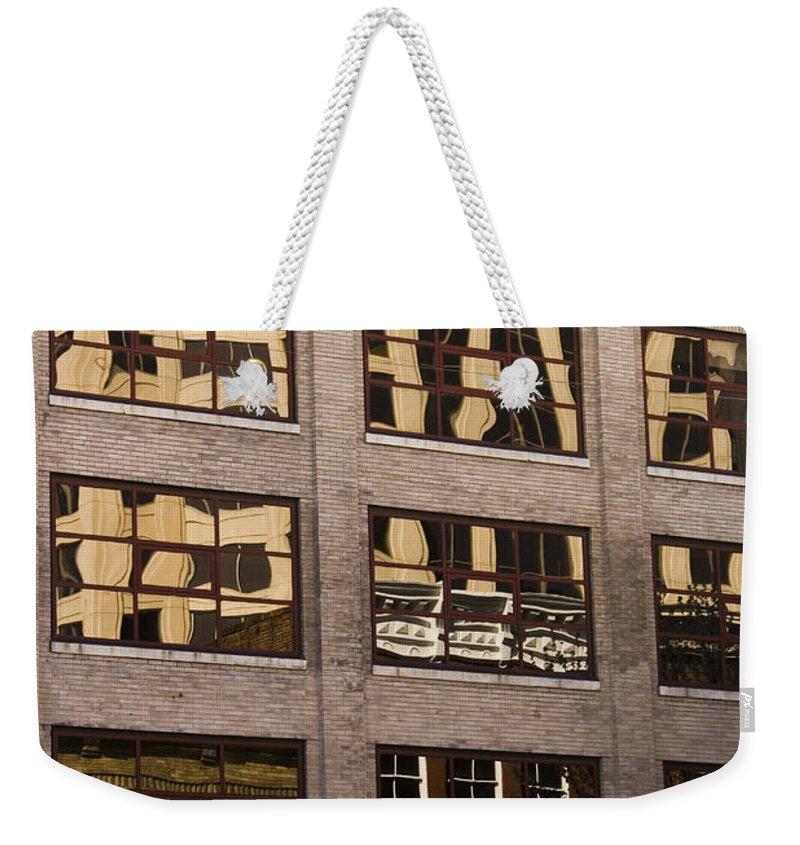 Roanoke Weekender Tote Bag featuring the photograph Roanoke Reflection by Teresa Mucha