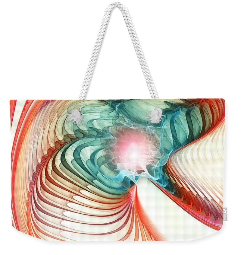Roar Weekender Tote Bag featuring the digital art Roar Of A Dragon by Anastasiya Malakhova