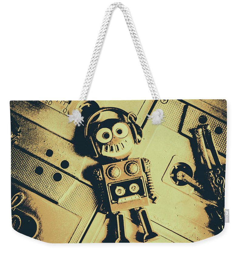 1980s Weekender Tote Bag featuring the photograph Robotic Trance by Jorgo Photography - Wall Art Gallery