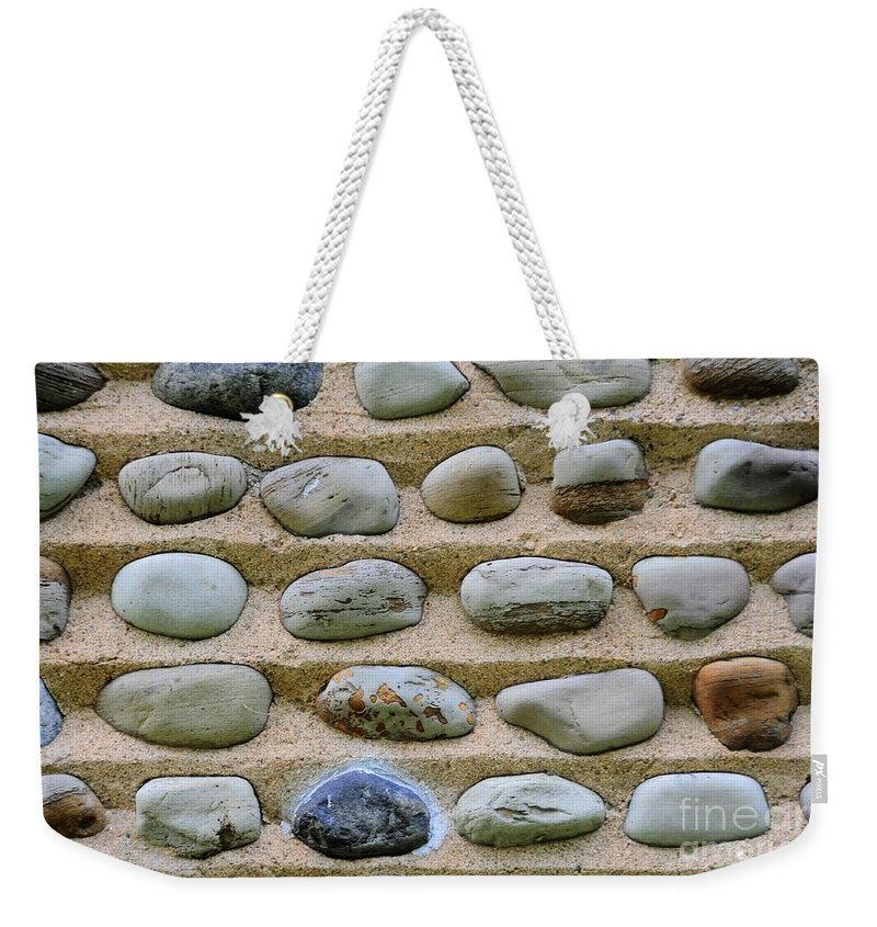 #stone #abstract #nature #color Weekender Tote Bag featuring the photograph Rock Abstract by Kathleen Struckle