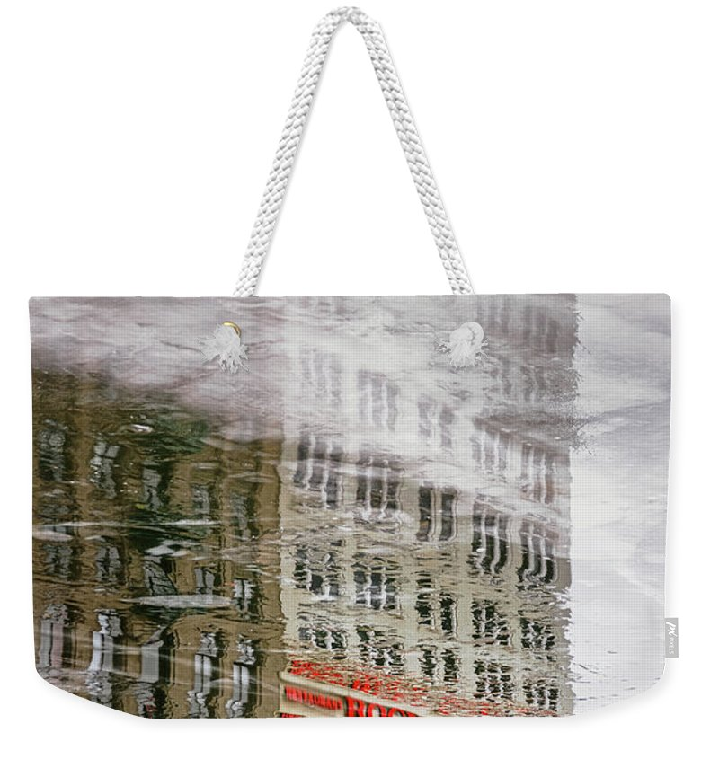 Ice Weekender Tote Bag featuring the photograph Rock Bottom by Scott Norris