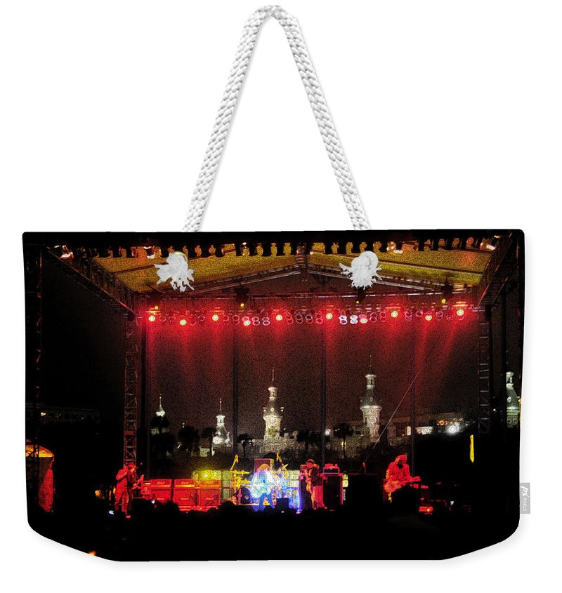 Rock Concert Weekender Tote Bag featuring the painting Rock Concert by David Lee Thompson