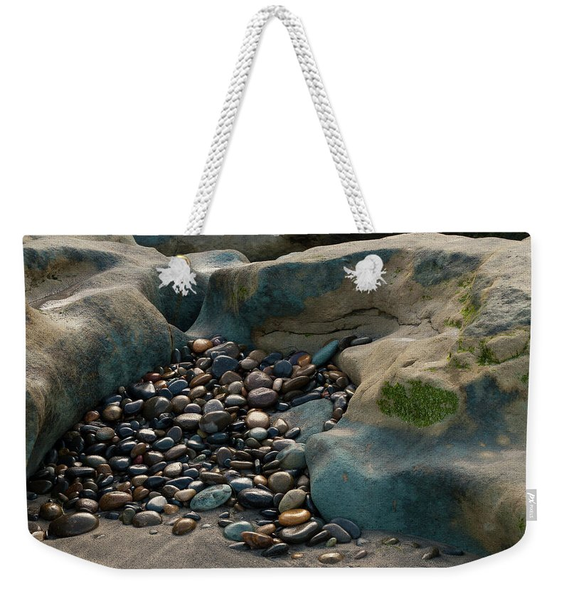 Rocks Weekender Tote Bag featuring the photograph Rock Cradle by Randy Bayne