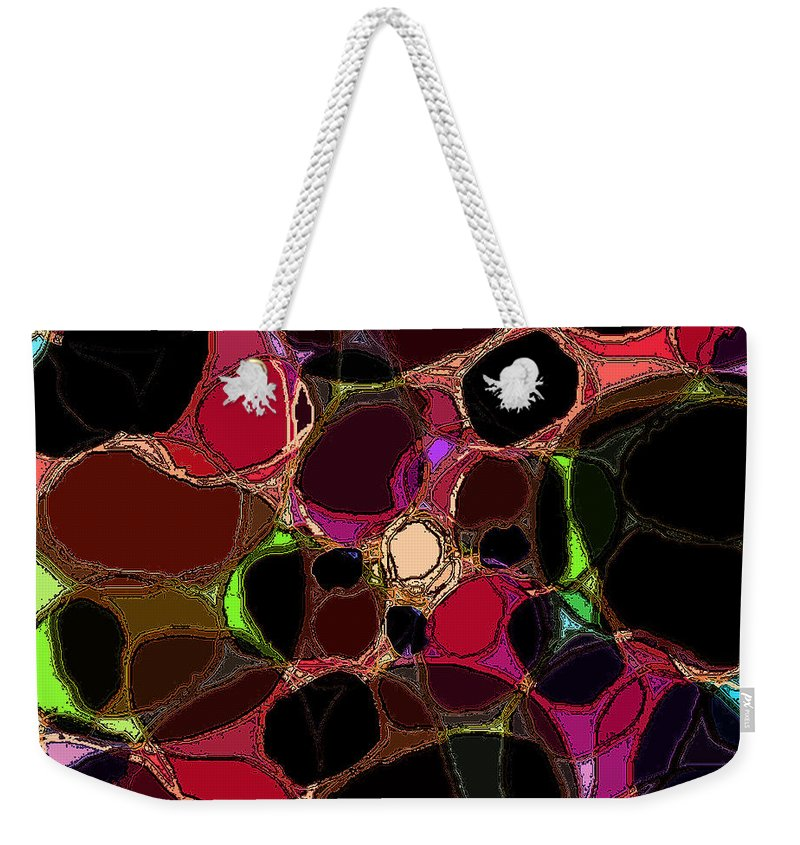 Abstract Weekender Tote Bag featuring the digital art Rock Figment by Rachel Christine Nowicki