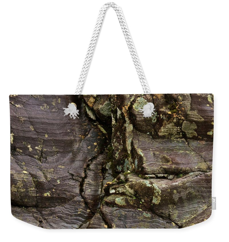 Scotland Weekender Tote Bag featuring the photograph Rock Flow by Colette Panaioti