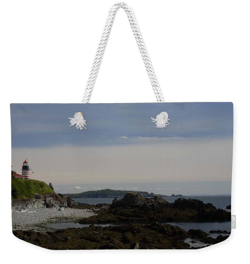 Seascape Weekender Tote Bag featuring the photograph Rock Watch by Joseph Castiglioni