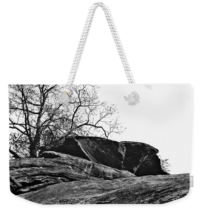 Landscape Weekender Tote Bag featuring the photograph Rock Wave by Steve Karol