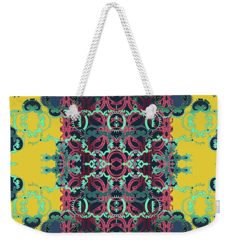 Yellow Weekender Tote Bag featuring the digital art Rocket 1 by Ceil Diskin