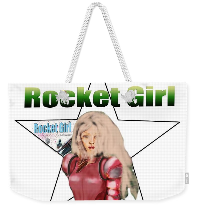 Rocket Weekender Tote Bag featuring the painting Rocket Girl by Tom Conway