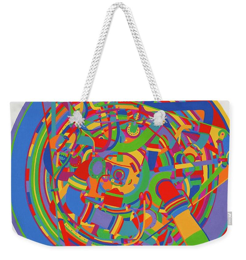 Rocket Weekender Tote Bag featuring the painting Rocket by Janet Hansen