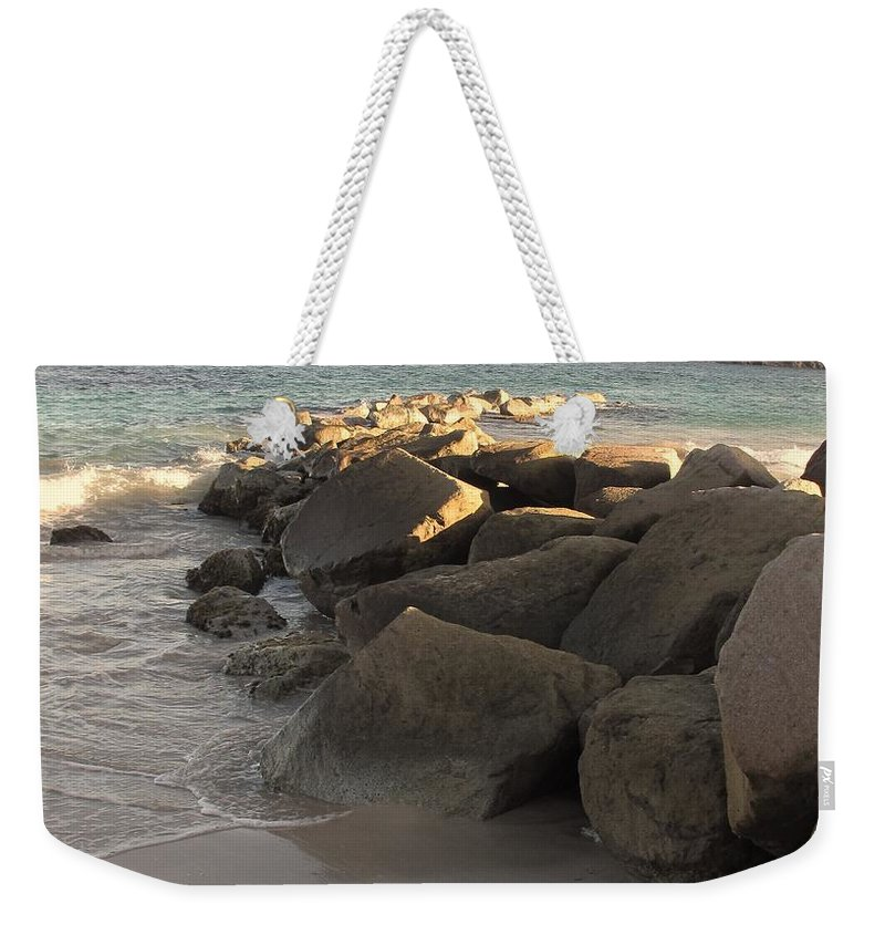 Boulders Weekender Tote Bag featuring the photograph Rocks And Hills by Ian MacDonald