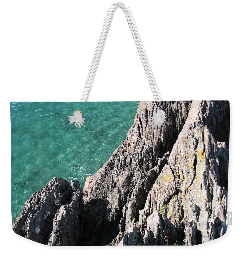 Kerry Weekender Tote Bag featuring the photograph Rocks of Kerry by Kelly Mezzapelle