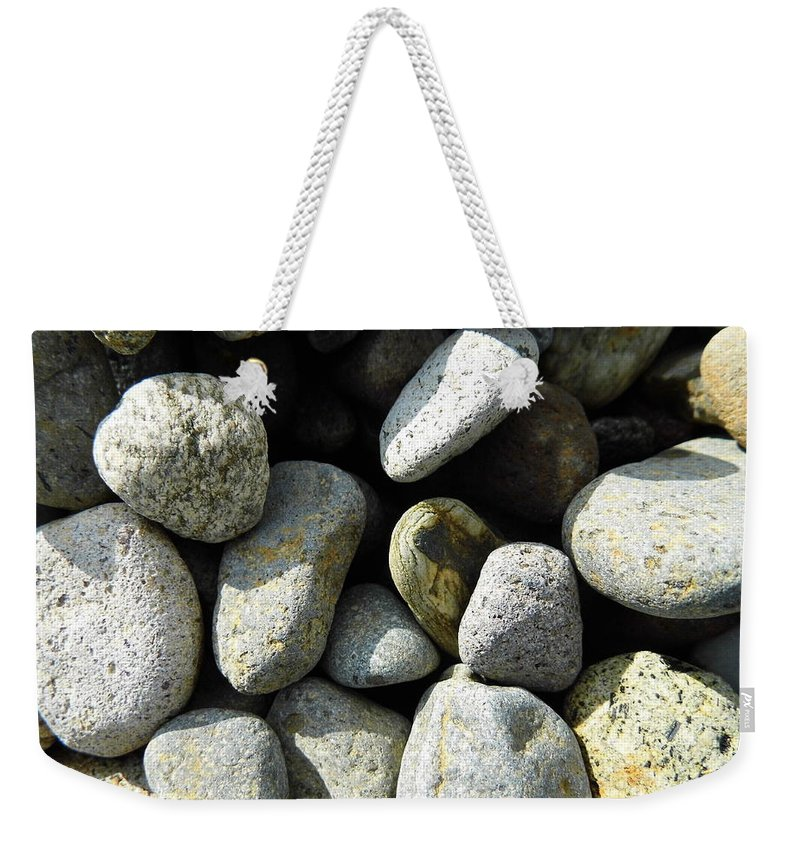 Rock Weekender Tote Bag featuring the digital art Rocks by Palzattila