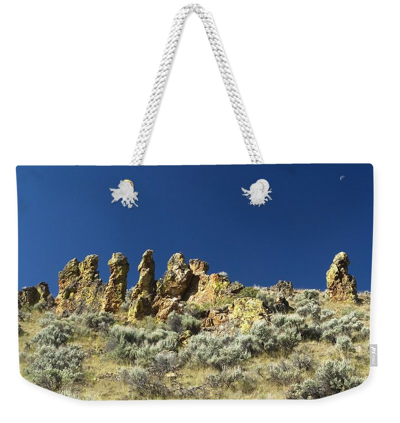 Desert Weekender Tote Bag featuring the photograph Rocks by Sara Stevenson