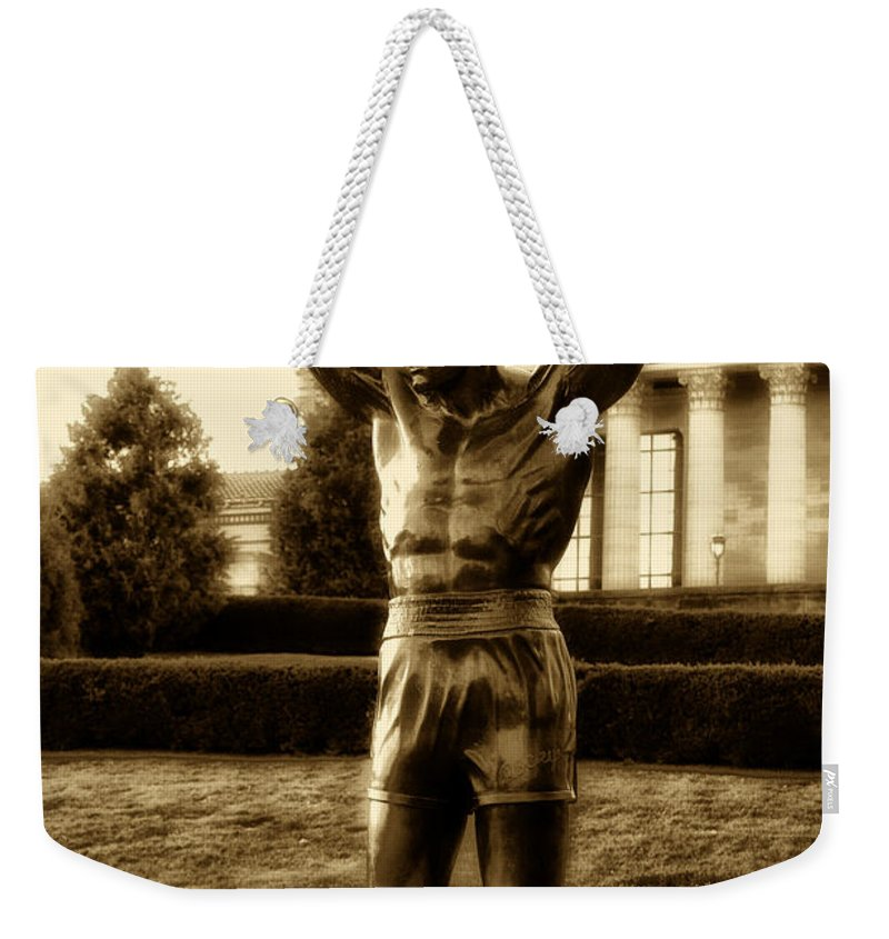 Sports Weekender Tote Bag featuring the photograph Rocky - Heart Of A Champion by Bill Cannon