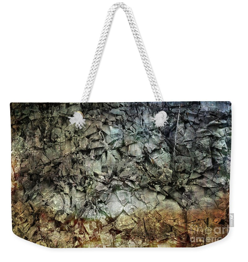 Rocky Weekender Tote Bag featuring the photograph Rocky Abstraction by Randi Grace Nilsberg