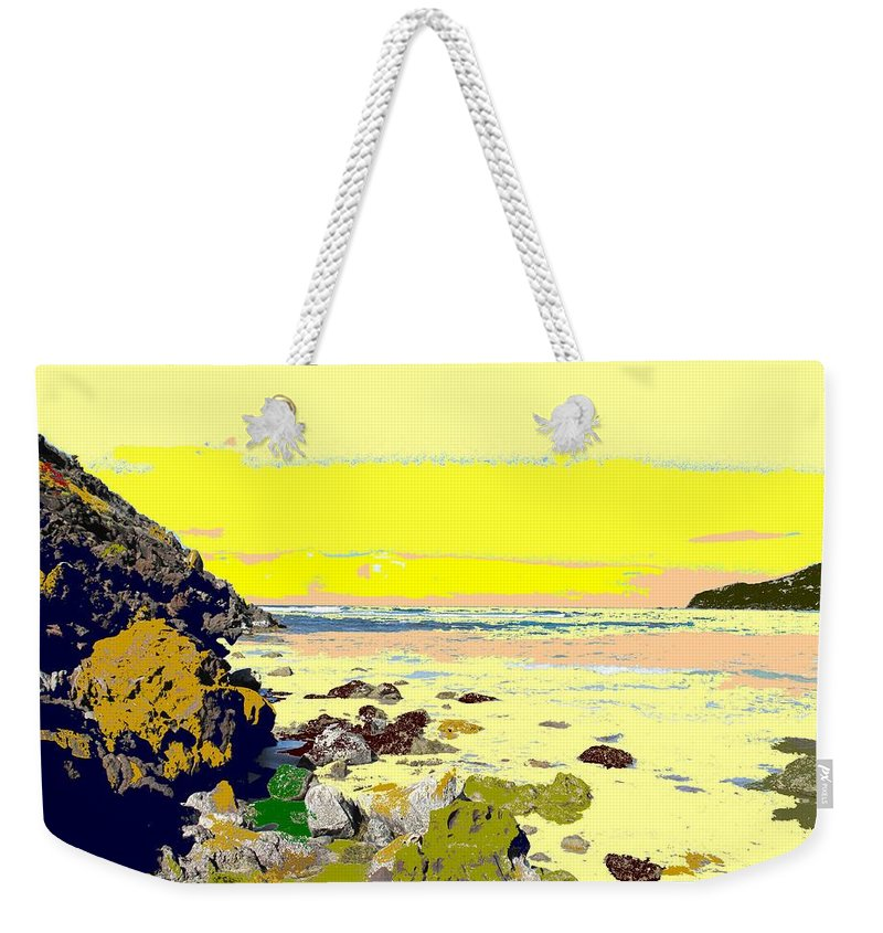 Beach Weekender Tote Bag featuring the photograph Rocky Beach by Ian MacDonald