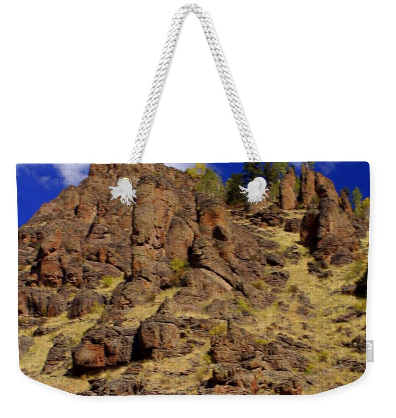Colorado Weekender Tote Bag featuring the photograph Rocky Butte by Marty Koch