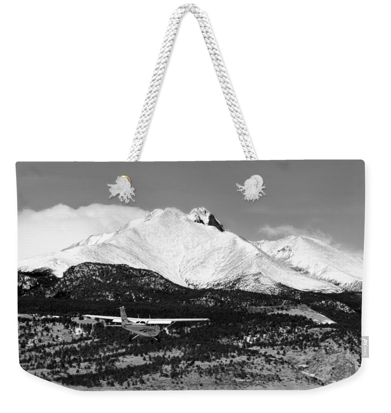 Aircraft Weekender Tote Bag featuring the photograph Rocky Mountain Flying by James BO Insogna