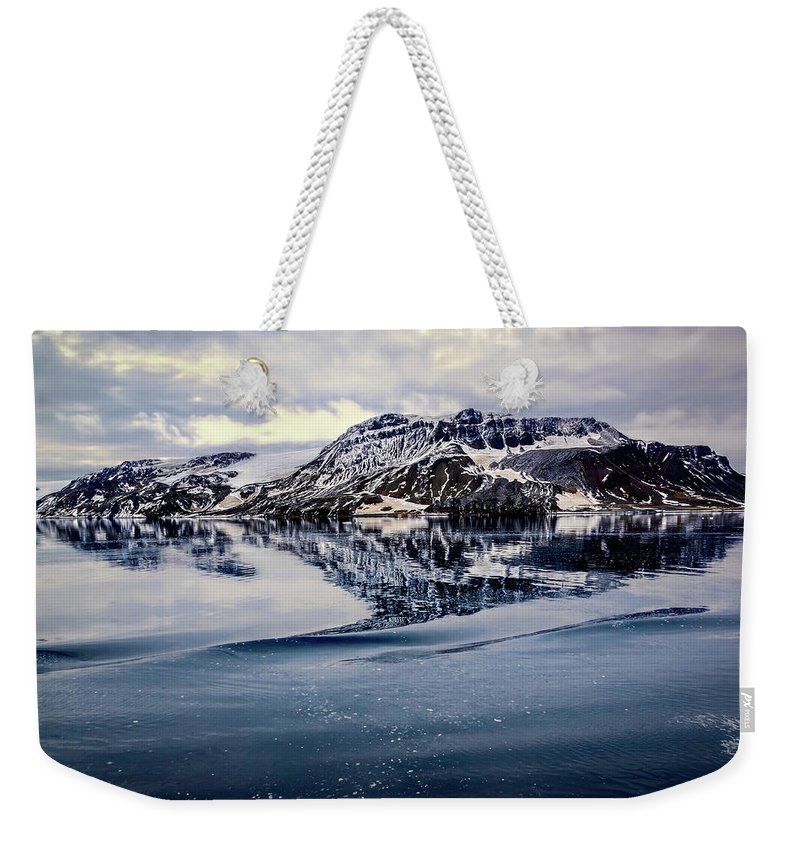 Antarctica Weekender Tote Bag featuring the photograph Rocky Outrigger by Maria Coulson