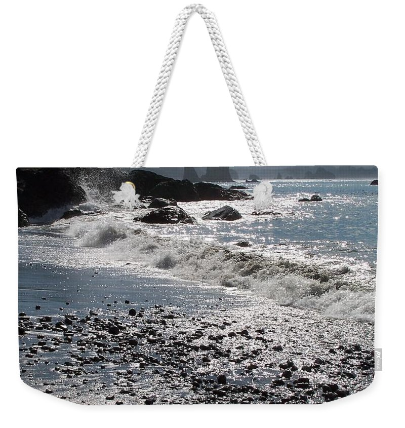 Ocean Weekender Tote Bag featuring the photograph Rocky Shores by Gale Cochran-Smith