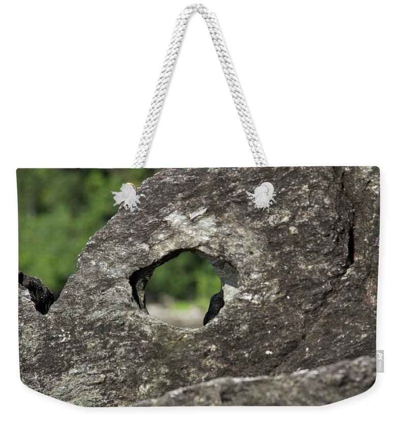 Peep Hole Weekender Tote Bag featuring the photograph Rocky View Point by Debbie Cundy