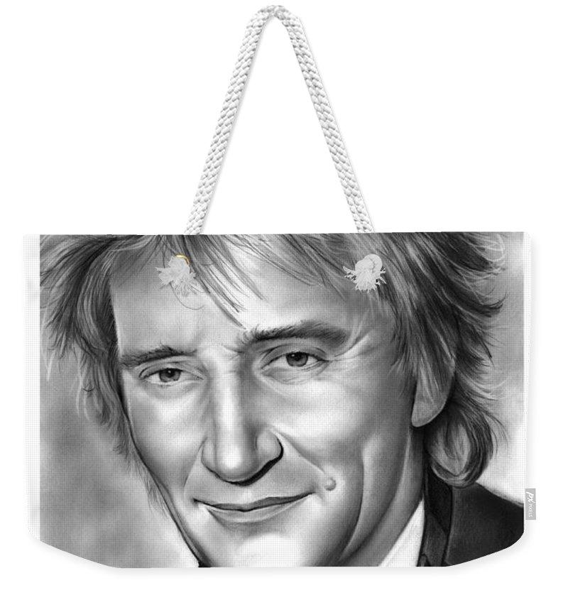 Rock And Roll Singer Weekender Tote Bags