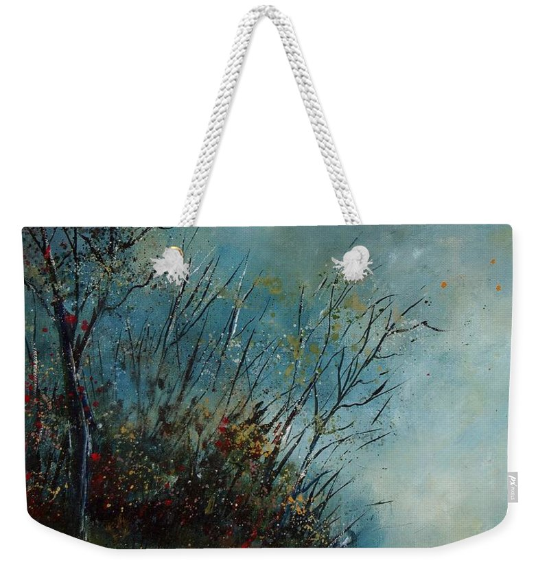 Animal Weekender Tote Bag featuring the painting Roedeer In The Morning by Pol Ledent