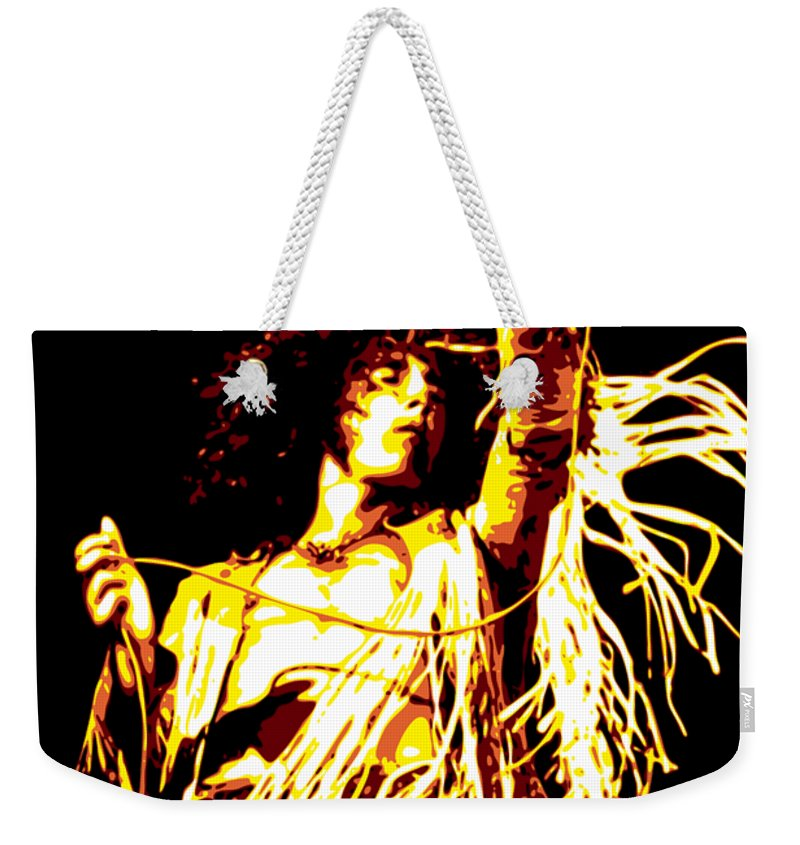 Roger Daltrey Weekender Tote Bag featuring the digital art Roger Daltrey by DB Artist