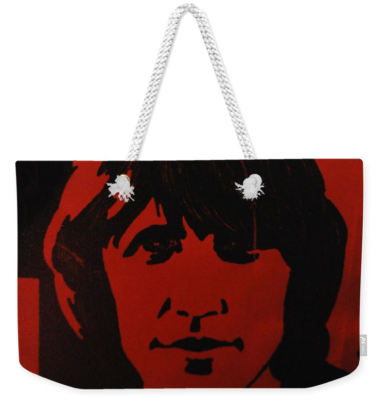Abstract Weekender Tote Bag featuring the photograph Roger Waters by Rob Hans