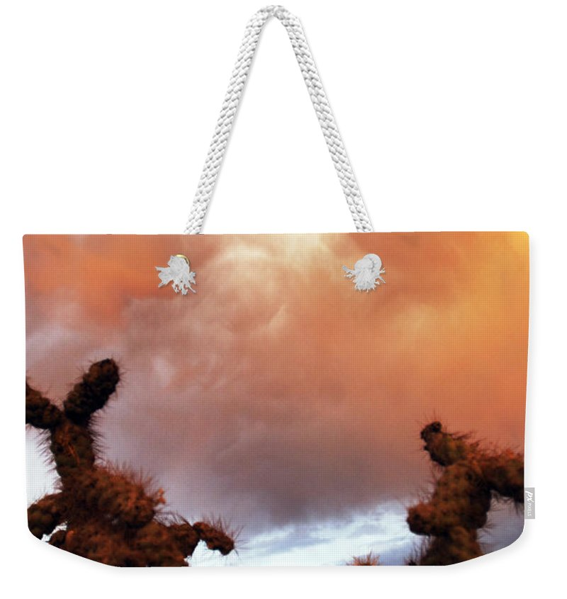 Storm Weekender Tote Bag featuring the photograph Roiling Sky by Jill Reger