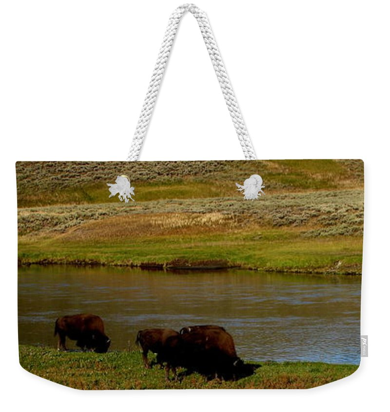 Patzer Weekender Tote Bag featuring the photograph Roll On Roll On by Greg Patzer