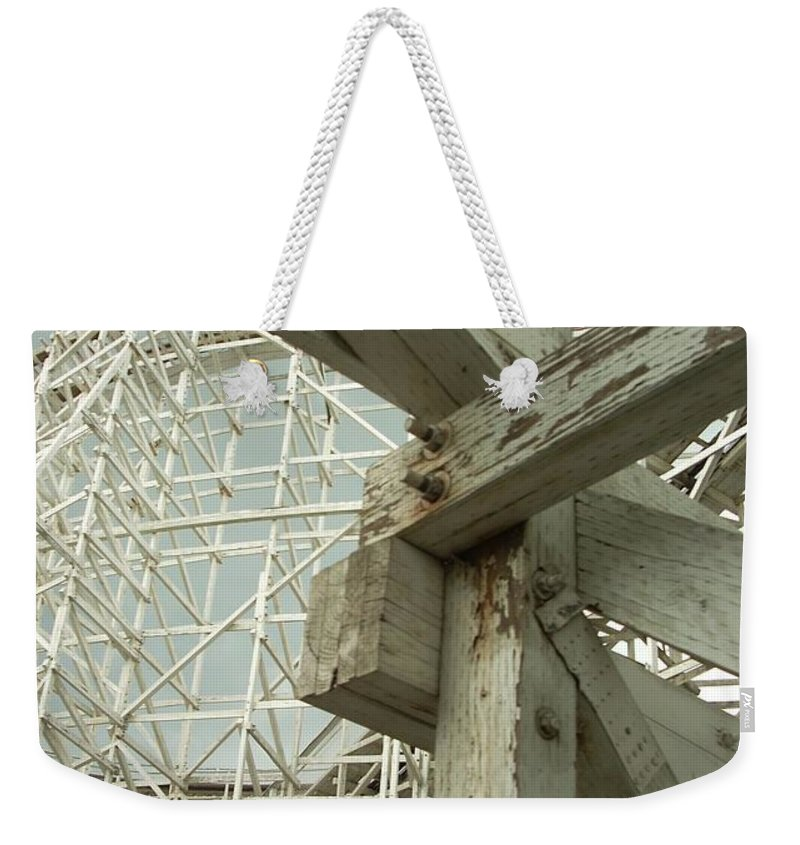 Roller Coaster Weekender Tote Bag featuring the photograph Roller Coaster 2 by Sara Stevenson