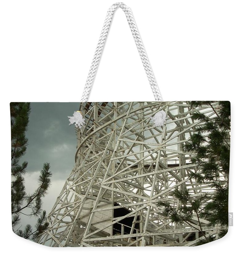 Roller Coaster Weekender Tote Bag featuring the photograph Roller Coaster by Sara Stevenson