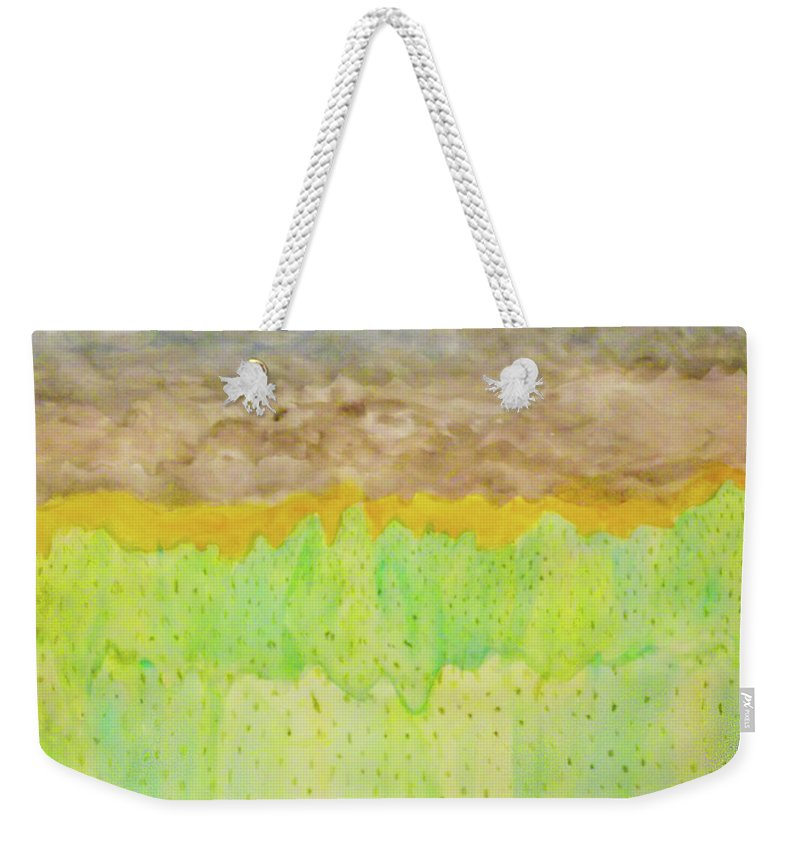 Landscape Weekender Tote Bag featuring the painting Rolling Heavens by Alexis Keels