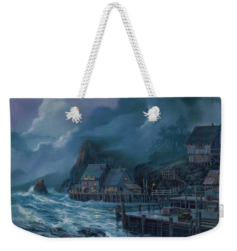 Michael Humphries Weekender Tote Bag featuring the painting Rolling Thunder by Michael Humphries