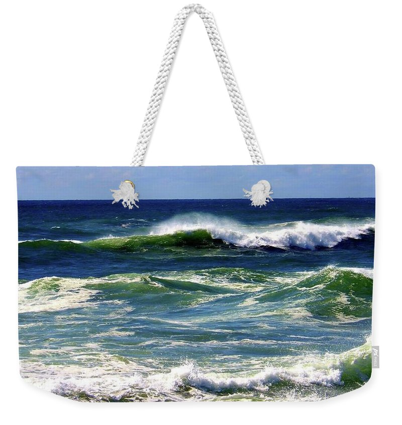 Weekender Tote Bag featuring the photograph Rolling Waves by Martin Stepalavich