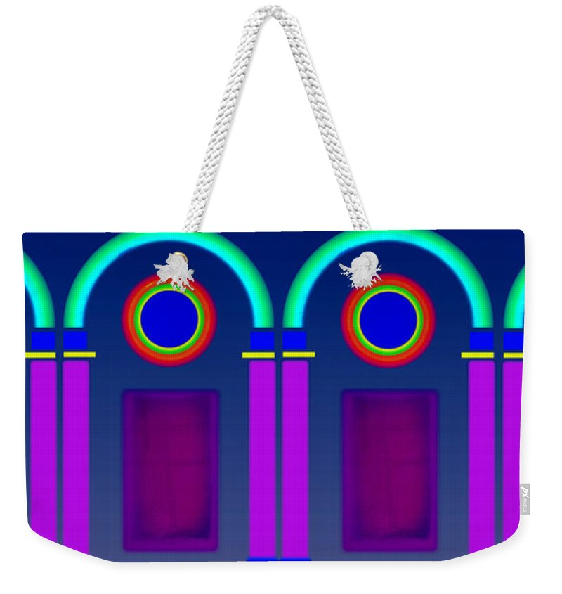 Classical Weekender Tote Bag featuring the digital art Roman Architecture by Charles Stuart