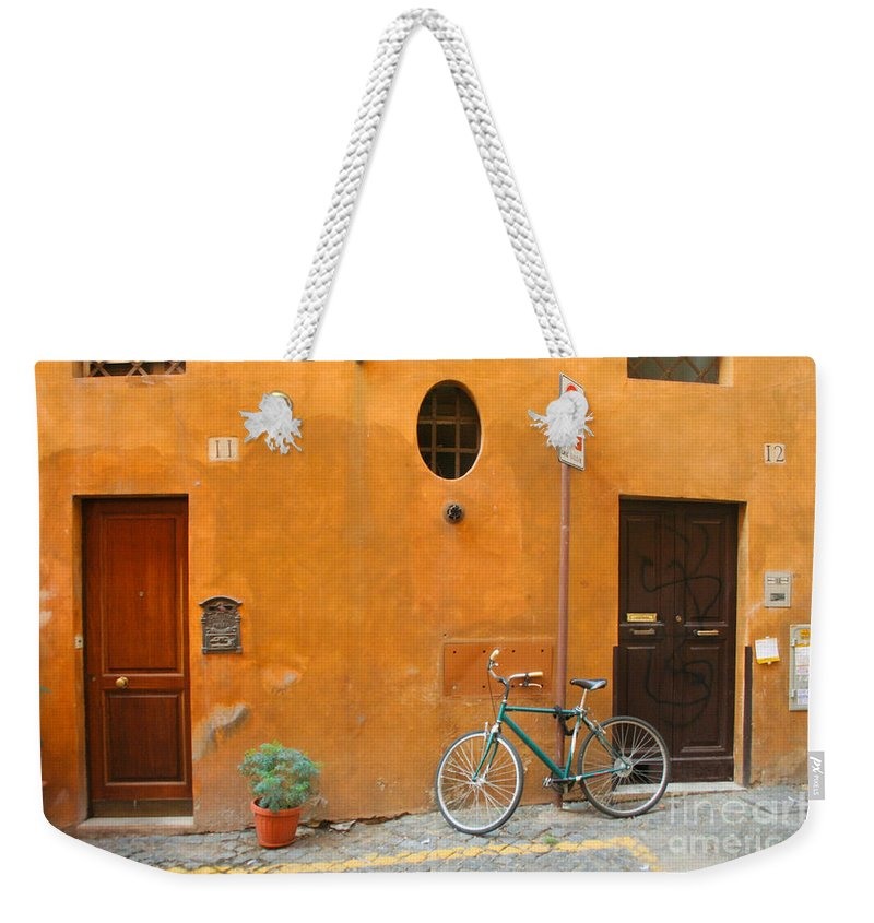 Rome Weekender Tote Bag featuring the photograph Roman Doors by Thomas Marchessault