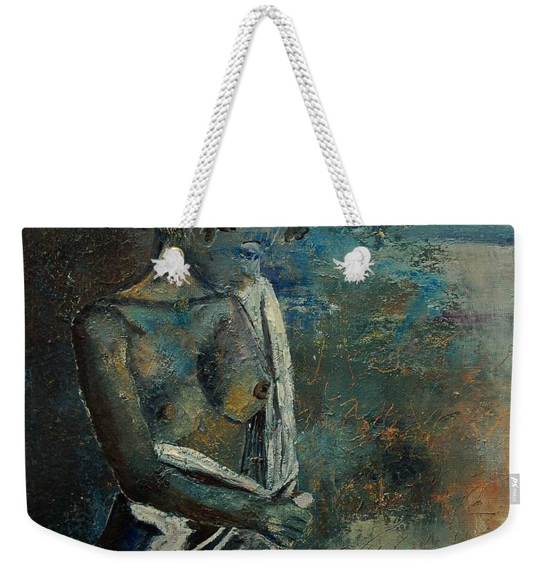 Nude Weekender Tote Bag featuring the painting Roman Nude 45 by Pol Ledent