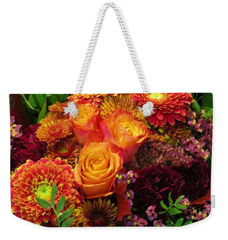Ornamental Flowers Weekender Tote Bag featuring the photograph Romance Of Autumn by Rosita Larsson