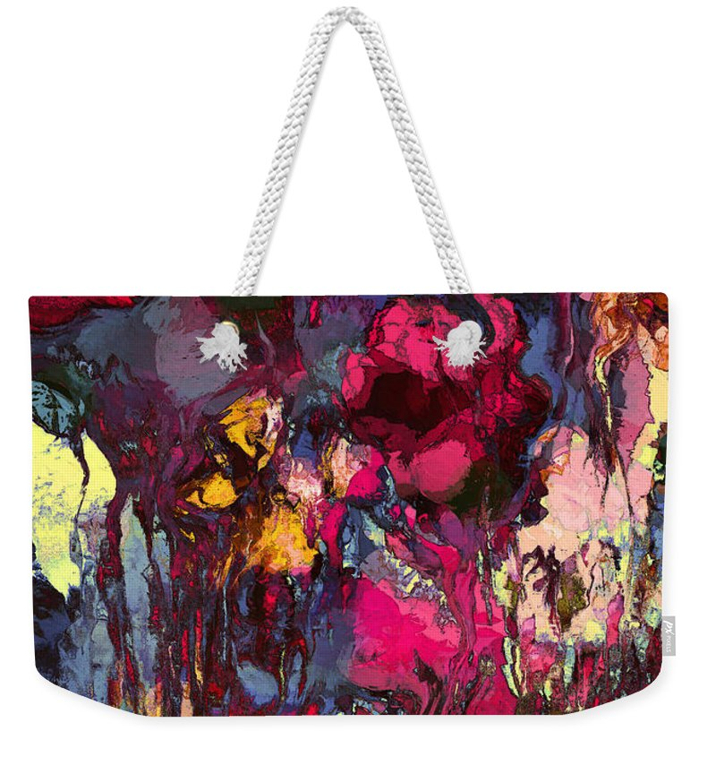 Flowers Weekender Tote Bag featuring the painting Romantic Garden by Natalie Holland