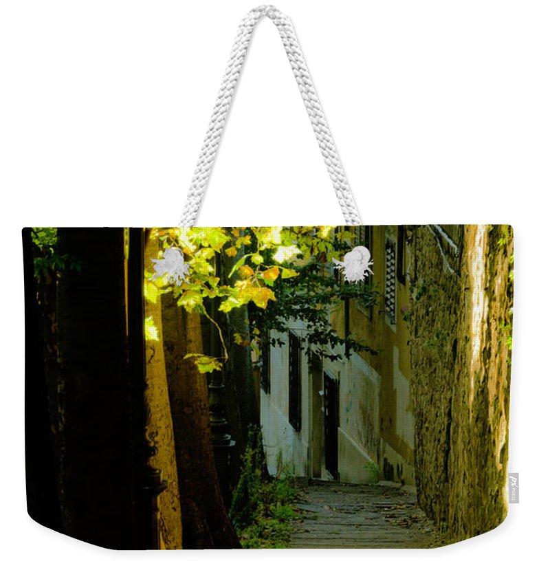 Sidewalk Weekender Tote Bag featuring the photograph Romantic Sidewalk by Wolfgang Stocker