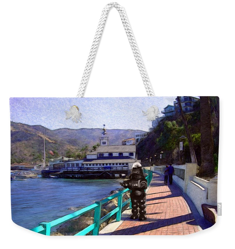 Catalina Weekender Tote Bag featuring the digital art Romantic Stroll by Snake Jagger