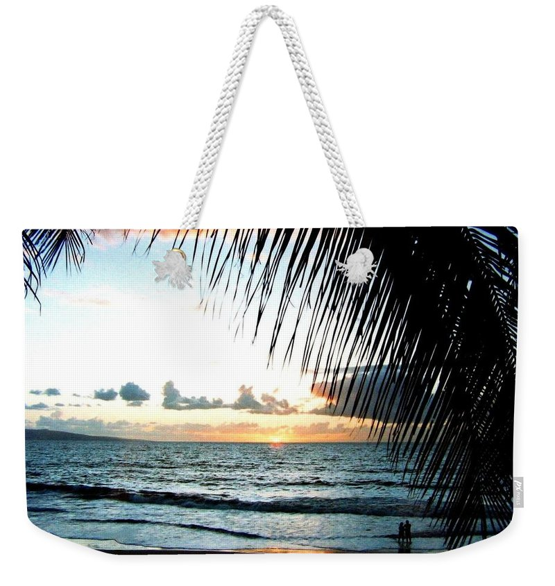 1986 Weekender Tote Bag featuring the photograph Romantic Sunset by Will Borden