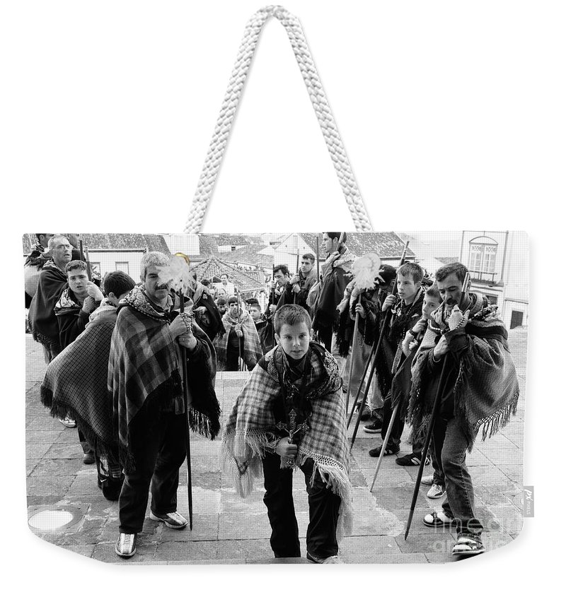 Group Weekender Tote Bag featuring the photograph Romeiros Pilgrims by Gaspar Avila