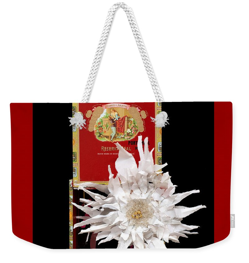 Cigar Box Weekender Tote Bag featuring the mixed media Romeo And Julietta by Jaime Becker